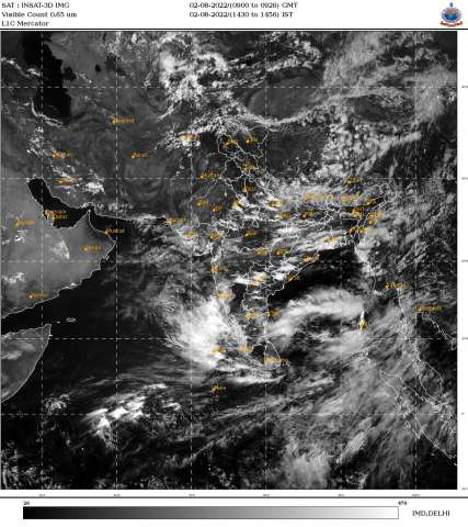 INSAT 3D Asia sector : Visible